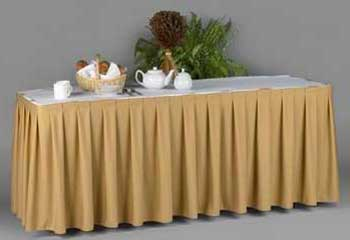 Table skirting - click to download PDF