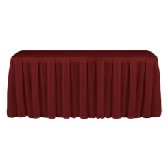 Table Skirting Primary Burgundy one size 14ft