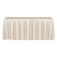 Table Skirting Primary Ivory one size 14ft