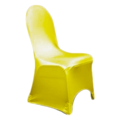 Chair Cover Lycra Yellow