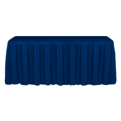 Table Skirting Primary Royal Blue one size 14ft