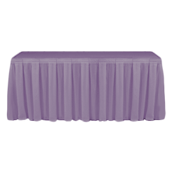 Table Skirting Primary Purple one size 14ft