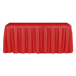 Table Skirting Primary Red one size 14ft