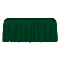 Table Skirting Primary Forest one size 14ft