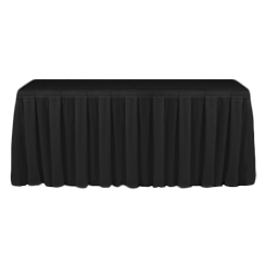 Table Skirting Primary Black one size 14ft