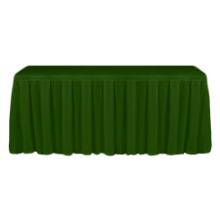 Table Skirting Primary Emerald one size 14ft