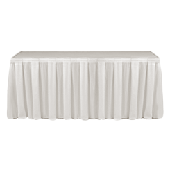 Table Skirting Primary White one size 14ft