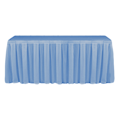 Table Skirting Primary Pale Blue one size 14ft